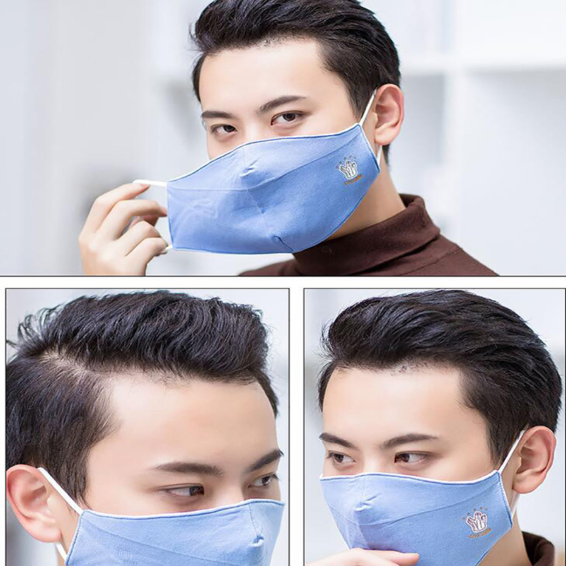2020 Anti-Fog Dustproof Windproof Mask Cotton Fashion Printing Men'S Mask Washable Multiple Use Mask
