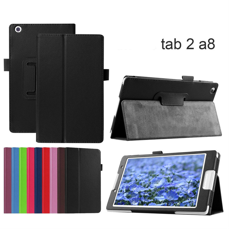 Case for Lenovo Tab 3 8 TB3-850M/850F Slim Stand Cover PU Leather Case for Lenovo Tab 2 A8-50 A8-50F A8-50LC 8.0 Flip Case capa image