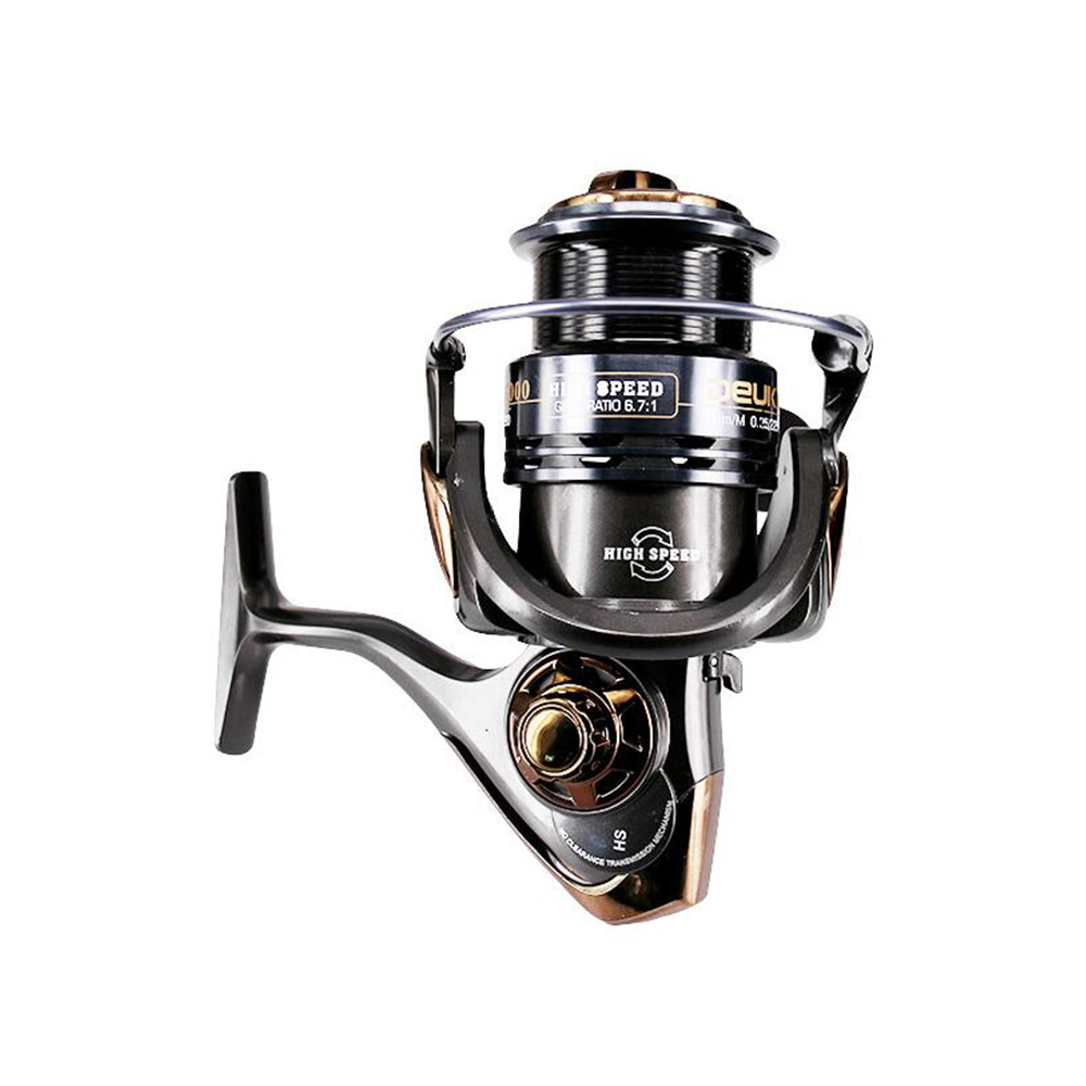 HS2000-5000 6BB Spinning Fishing Reel High Speed Gear Ratio 7.1:1 Carp Fishing Tackle Large Drag CNC Rocker Arm Fishing Wheel