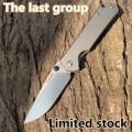 Tierra 812 cuchillo de titanio plegable de bolsillo VG10 hoja de Camping al aire libre supervivencia caza herramienta táctica EDC Edición Limitada