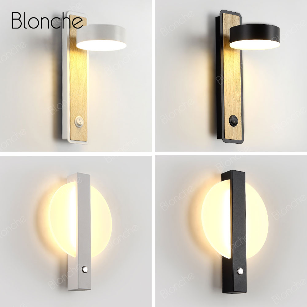 Modern LED Wall Lamps Wooden Creative Wall Light Bedside Lamp for Hallway Bathroom Bedroom Light Fixtures Indoor Decor SconceModern LED Wall Lamps Wooden Creative Wall Light Bedside Lamp for Hallway Bathroom Bedroom Light Fixtures Indoor Decor Sconce