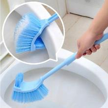 1 pcs High Quality Plastic Long Handle Bathroom Toilet Bowl Scrub Double Side Cleaning Brush Bathroom Tools Wholesale