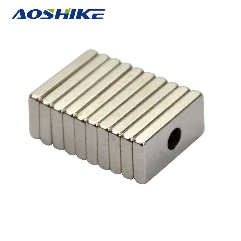 AOSHIKE 10pcs 20mm*10mm*3mm Hole 4MM Rectangular Magnets 20x10x3 Rare Earth Neodymium Magnets Door Magnetite Neodimio Magneten magnetite magnetite filter water treatment filter magnetite powder