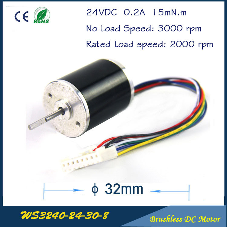 Reliable Performance 5W 3000rpm 24VDC 0.2A 15mN.m 32mm Brushless DC Motor FAN for DC FAN Air pump or gear box Free shipping 13000rpm 73w 24v 3 33a 42mm 55mm 3 phase hall brushless dc micro motor high speed dc motor for fan air pump or gear box