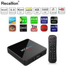 MX10 PRO TV Box With Digital Display Set Top Android 9.0 4GB RAM 32GB ROM 2.4G 5G WiFi Media Player BT4.1 Support 4K H.265