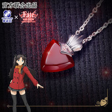 Fate Stay Night Pendant Silver 925 Sterling Jewelry Game Anime Chararcter Rin Saber Figure Model FSN japan anime fate stay night [unlimited blade works] original banpresto x good smile company sq figure rin tohsaka