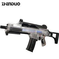 Zhenduo игрушки G36 непрерывный Запуск водяных бомб Eletric водяной пистолет для взрослых Открытый CS детский игрушечный пистолет черный прозрачный