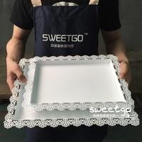 3pcs 1set Wedding Decoration Fruit Plate Cake Stand Coffee Tea Wine Tray Wedding Candy Dessert TrayParty