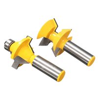 2Pcs 1 2 Shank Router Bit Set 120degree Woodworking Groove Chisel Cutter Tool