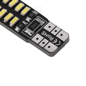 Image 4 - Bombilla led canbus para coche, T10 Canbus, 24led, 3014smd, w5w, t10, Smd, 100 t10, 24smd, sin errores Obc, 194 Uds. Por lote, venta al por mayor