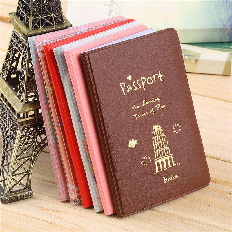6 Colors Travel Passport Holder Document Card c53013a17