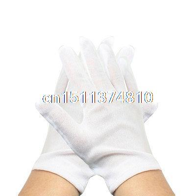 Protective White Anti Fingerprint Jewelry Silver Inspection Work Gloves 12 Pair insulated gloves electric gloves 5kv anti live live work high pressure live work labor protection protective rubber gloves