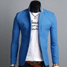 6 Colors Casual Suit Men Tops Stylish One Button Suit Italian Suit Coat Business Blazer Jackets Men Fall Slim Luxury Blazers