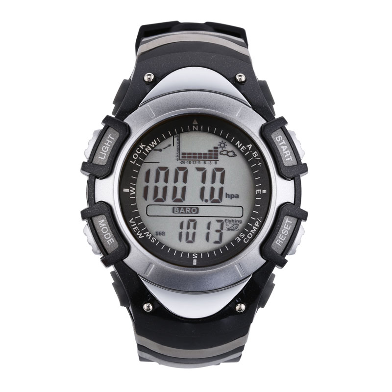 SUNROAD FX704A Fishing Men Watch Digital Fishing Barometer Thermometer Altimeter Outdoor Sports Clock Watch Men Style