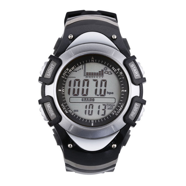 SUNROAD FX704A Fishing Men Watch- Multifunction Digital Fishing Barometer  Thermometer Altimeter Outdoor Sports Clock