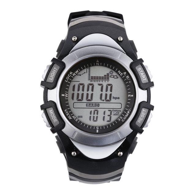 Sunroad fx704a reloj de los hombres-digital multifunción de pesca pesca barómetro del altímetro del termómetro reloj de los deportes al aire libre