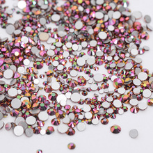 AAAAA Quality 1packs Mix Sizes Rose Rainbow Non Hotfix Flatback Nail Rhinestoens Nails Accessories Nail Art Decoration Gems