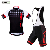WOSAWE Cycling Jersey Bike Bib Shorts Set Ropa Ciclismo Quick Dry Mens Pro Cycling Wear Bicycle