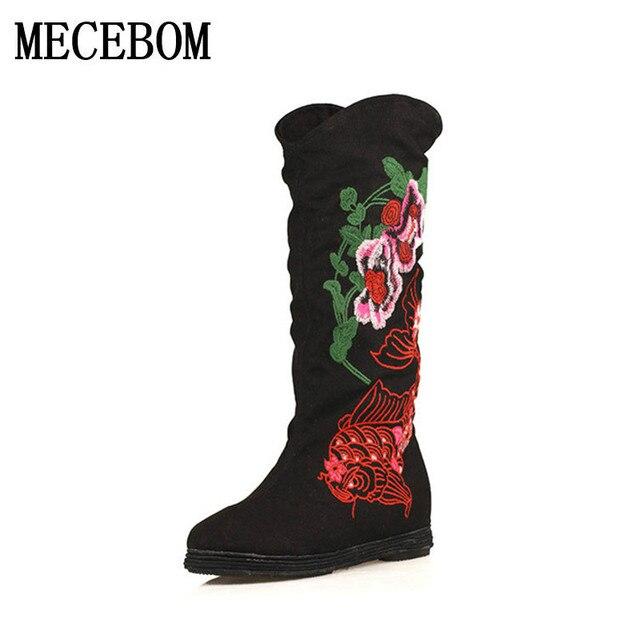 Nuovo modo di tacco marca Mis calf Stivali Da donna tacco di piatto Stivali   ff52e6