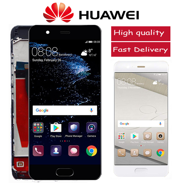 מקורי 5.1 תצוגה עם מסגרת עבור Huawei P10 LCD VTR L10 VTR L29 VTR L09 עם מסך מגע Digitizer עצרת Replacment