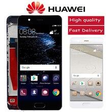 Huawei p10 lcd VTR L10 VTR L29 VTR L09 터치 스크린 디지타이저 어셈블리 교체 용 프레임이있는 원본 5.1 디스플레이