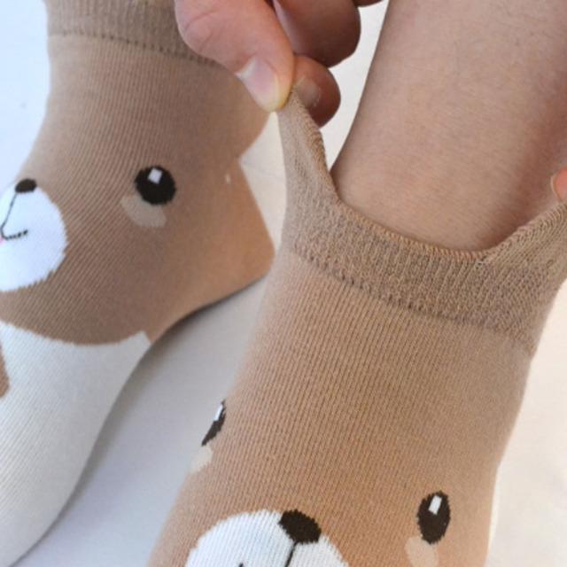 Damskie skarpetki bawełniane zwierzęce wzory