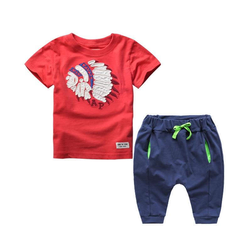 2018 Kids Clothes Children Boys Summer Hip Hop Clothing Sets Baby Cotton Costume Tracksuit Disfraz Infantil Toddler Tees+Pants