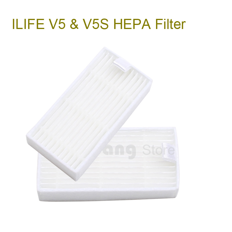 Original ilife V5 Filter for Robot Vacuum Cleaner ILIFE model 2016 new Spare Parts replacement from factory, 2pcs, free shipping