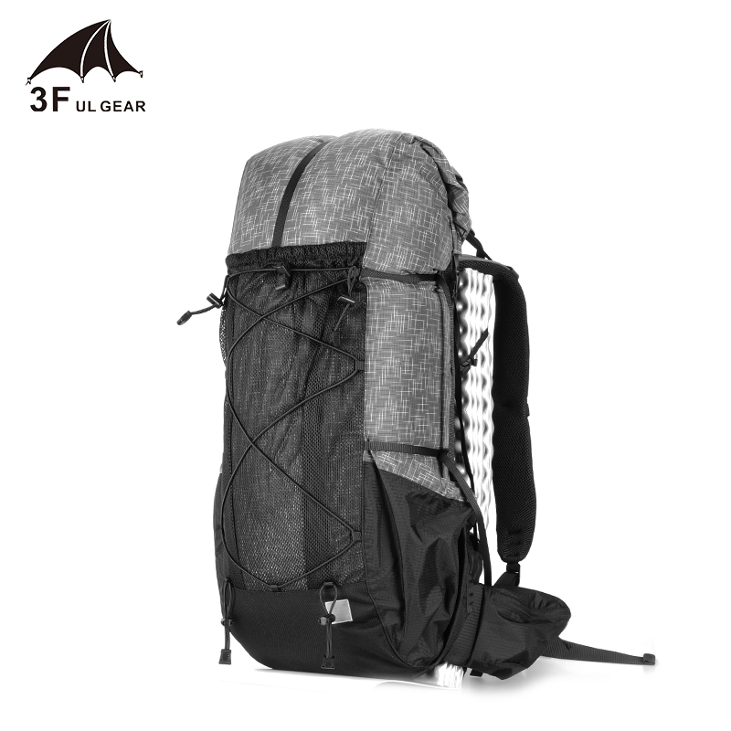 3F UL GEAR Water-resistant Hiking Backpack Lightweight Camping Pack Travel Mountaineering Backpacking Trekking Rucksacks 40+16L mini kompas sleutelhanger