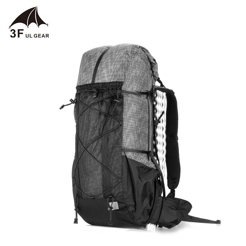 Spor ve Eğlence'ten Tırmanma Çantaları'de 3F UL DIŞLI Suya dayanıklı Yürüyüş Sırt Çantası Hafif Kamp Paketi Seyahat Dağcılık Sırt Çantası Trekking sırt çantaları 40 + 16L title=