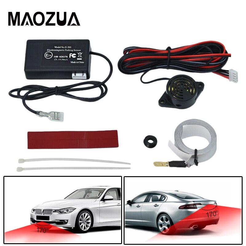 Auto LED U301 Parkplatz Sensoren für Auto Elektromagnetische Auto Parkplatz Sensor Kit Parkplatz Radar Stoßstange Schutz Backup Umkehr System
