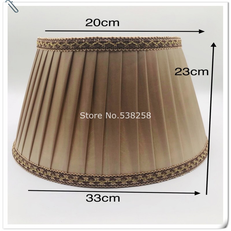 Table lamp shade cover cover bedroom head lamp shade American floor lamp shade cloth art lamp shade