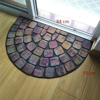 anti slip shaggy rubber door mat