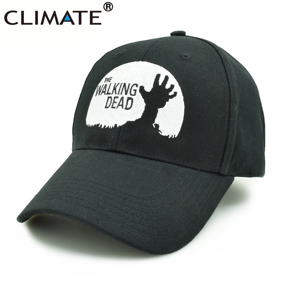 CLIMATE Men Women Black The Walking Dead Caps Rick Daryl Glenn Carl Maggie Carol Black cotton Baseball Caps Hat for Men Women climate men women no logo brushed best heavy thick massy warm baseball caps twill sports active casual one size adjustable hat