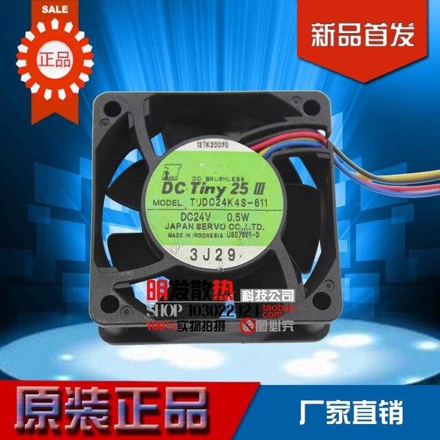 24V 0.5W 6CM TUDC24K4S-611 6025 60*60*25 4 Wire Fan