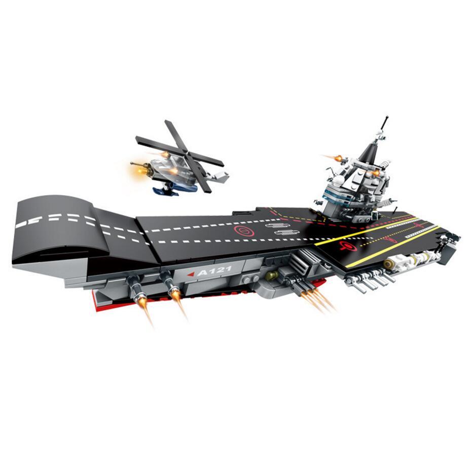 Ww2 современной военной морской клана 8in1 суперквартира Building Block армии цифры истребитель фрегат вертолет броневик автомобиля игрушки ...