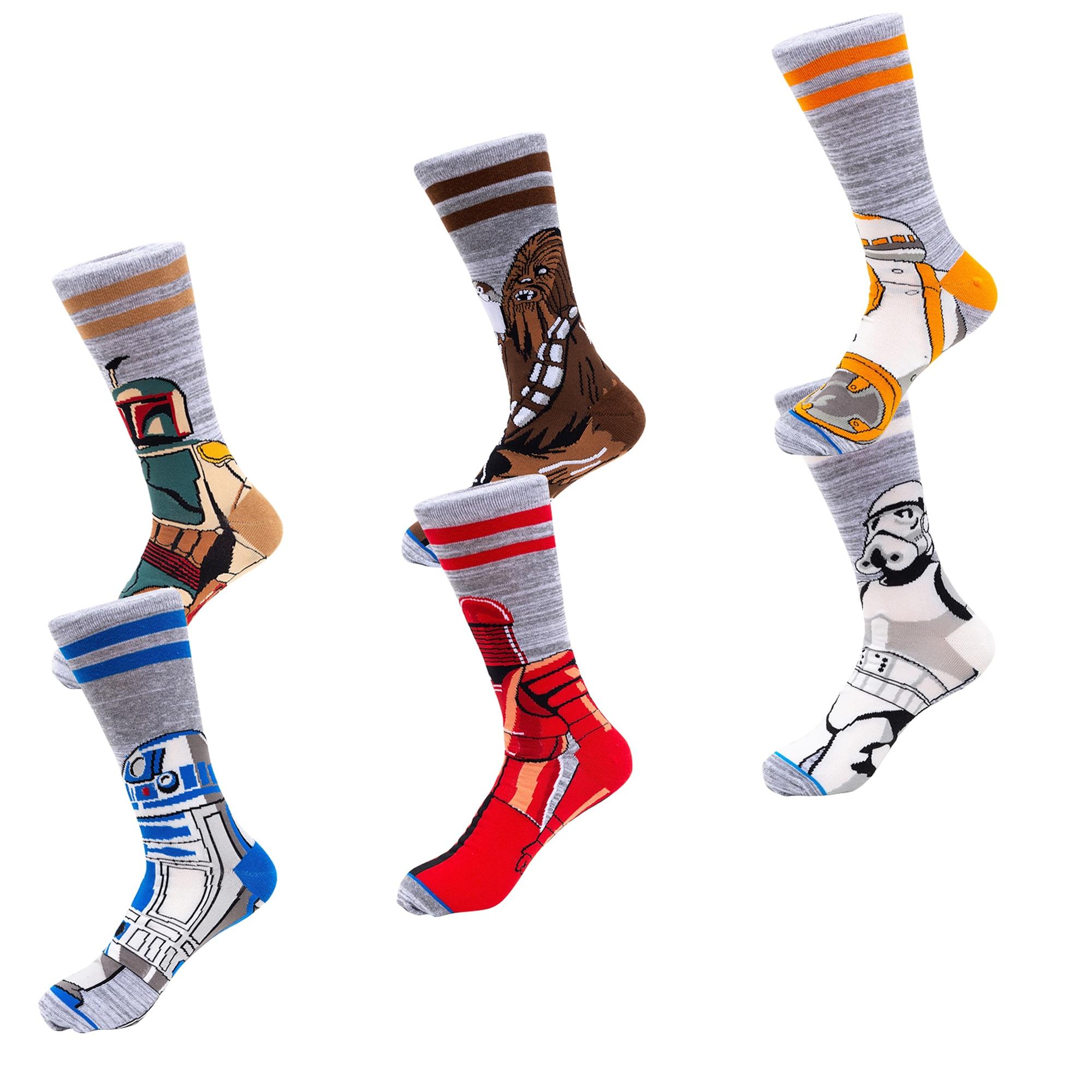 Fashion Women Men Print Funny Socks Casual Sports Cotton Long Socks Stockings US