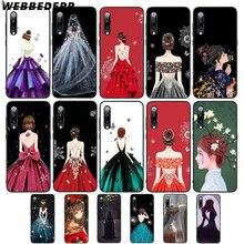 WEBBEDEPP vestido de novia chica suave TPU funda para Xiaomi Redmi GO Note 4 4X5 6 pro 5A prime 7 7 Pro