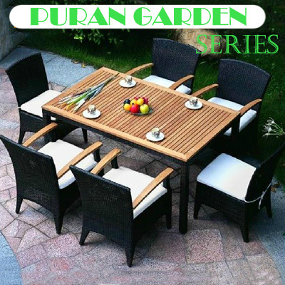 Teak Table And Chairs Garden Clear Acrylic Dining Furniture Rattan Outdoor Chair Set 6pcs 1pcs