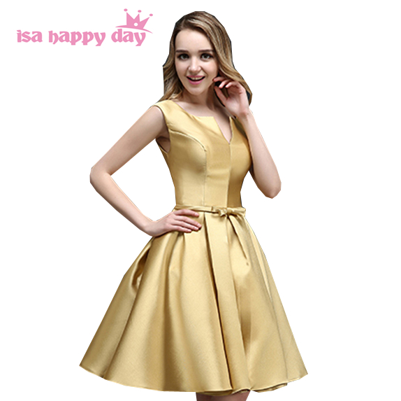 Dresses 2019 Trend: Vestidos Festa Special Women Gold Satin Prom Dress New