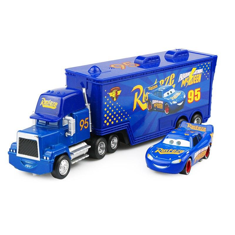 Дисней Pixar Тачки 2 3 игрушки Молния Маккуин Джексон шторм мак грузовик 1:55 литая под давлением модель автомобиля для детей рождественские подарки - Цвет: Two cars 6