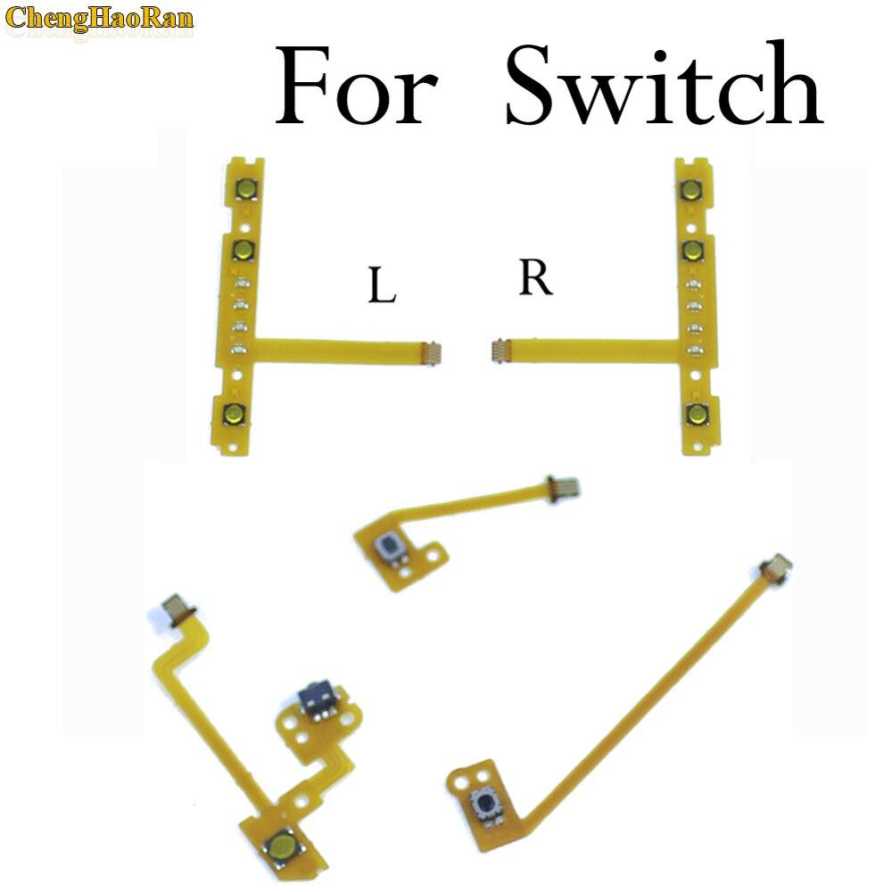 ChengHaoRan 1x Replacement For Nintendo Switch Joy-Con ZR ZL L SL SR Button Key Ribbon Flex Cable On Off Volume Button Connector