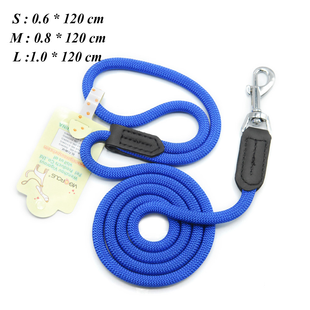 Dog Leashes For Small Dogs Collar Nylon Puppy Leash Collar Dog Leash For Large Dogs Basic Leashes Solid Rope (3)