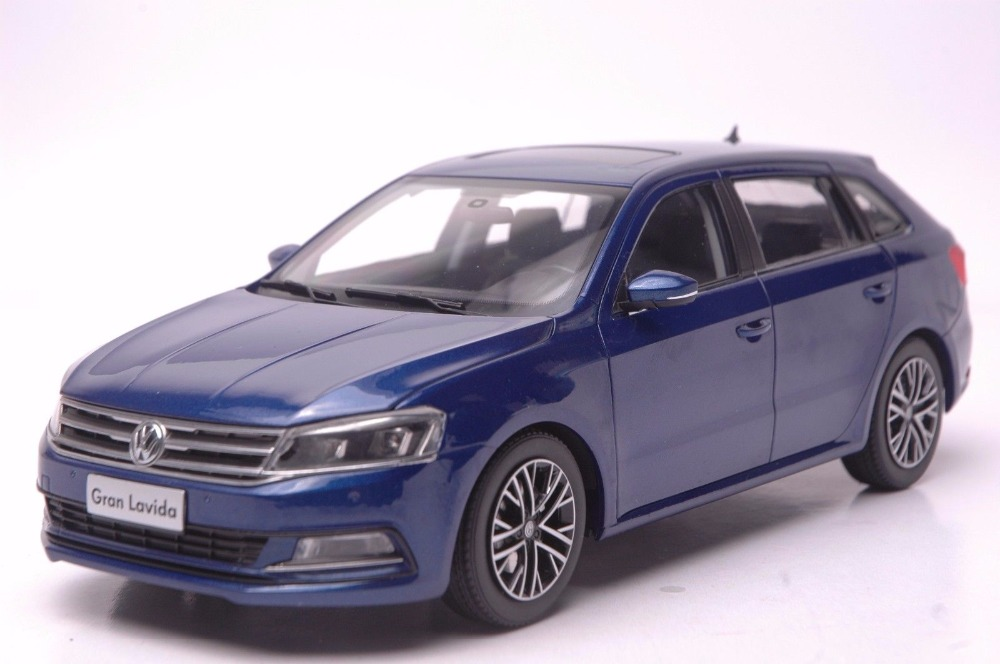 1:18 Diecast Model for Volkswagen VW Gran Lavida 2015 Blue Wagon Alloy Toy Car Miniature Collection Gifts 1 18 масштаб vw volkswagen новый tiguan l 2017 оранжевый diecast модель автомобиля