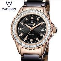 Nuevo Relojes Mujer 2019 Relojes de moda de marca superior para Mujer Relojes de cerámica para Mujer Relojes deportivos de cuarzo para chicas reloj casual para Mujer