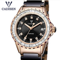 Nuevo Relojes Para Mujer de CADISEN 2019, Relojes de moda de la mejor marca, pulsera de cerámica, Relojes deportivos de cuarzo para chica, reloj informal para Mujer