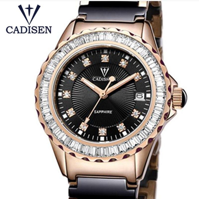 Relojes Mujer 2019 CADISEN top marque de mode femmes montres en céramique bracelet quartz fille Sport montres horloge décontractée dame montre