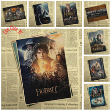 Multiple awards The Hobbit Movie Kraft Paper Poster Bar Cafe Vintage High quality Printing Drawing core Decorative Painting