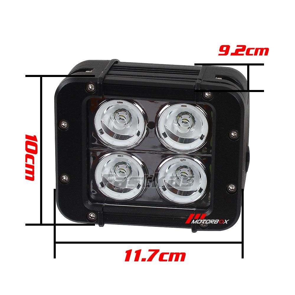 FASTKAS 2X40 W LED Barra de luz de trabajo para camiones de ATV de la motocicleta CREE Chip LED Offroad barra de luz 4 luz LED de luz antiniebla X 4 - 2