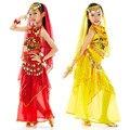 Дети Танец Живота Костюм Дети Индийский Танец Платье 5 Шт. Болливуд Танцевальные Костюмы для Девочек Производительности Танцы Наборы